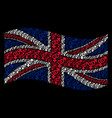 waving great britain flag pattern of heterosexual vector image