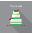 Wedding cake Icon in the flat style vector image vector image