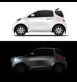 white realistic midget mini car vector image