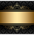 black background with golden decorations vector image