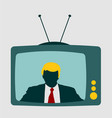 television set with an reporter vector image