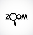 Zoom icon with letters Magnifying glass are vector image