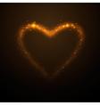 shine glow gold heart vector image