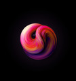 abstract 3d twisted shape vector image