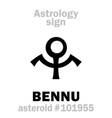 astrology asteroid bennu vector image vector image