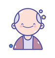 back to school teacher man portrait vector image