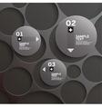 Background of circles vector image vector image