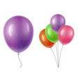 balloons transparency vector image vector image