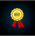 best first prize won icon design element vector image vector image