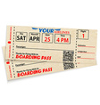 Boarding pass tickets vector image