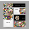 Business card collection abstract floral design vector image vector image