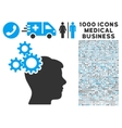 Business Idea Icon with 1000 Medical Business vector image