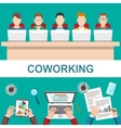Business Meeting in office Coworker concept vector image vector image