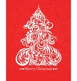card with christmas tree vector image vector image