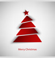 Christmas card with abstract red tree template vector image vector image
