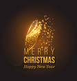 christmas golden decoration with champagne splash vector image