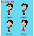 Clever office girl standing set vector image vector image