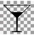 Coctail icon on transparent vector image vector image
