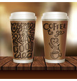 coffee to go two cup composition vector image vector image