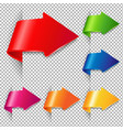 colorful arrow set vector image vector image
