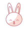 cute shadow rabbit cartoon vector image vector image