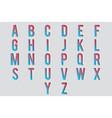 cutout paper letters 3d alphabet design vector image vector image