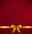 Dark Red Card With Golden Ribbon vector image vector image