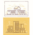 fire department and hospital - set of line design vector image vector image