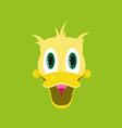 flat icons on theme funny animals duck vector image vector image