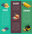 freight delivery and shipment banners set vector image vector image