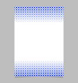 geometric halftone pattern poster template - page vector image vector image