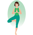 Girl practices yoga vector image vector image