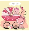 Greeting card its a girl vector image