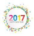 Happy New Year 2017 label vector image vector image