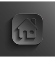 Home icon - black app button vector image
