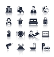 Hotel travel pictograms set vector image vector image