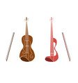 instrument violin vector image