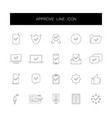 line icons set approve pack vector image vector image