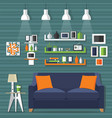 living room modern style vector image vector image