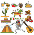 mexican lifestyle template in traditional vector image vector image