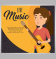 musician woman in concert vector image vector image