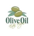 olive oil logo label packaging product design vector image vector image