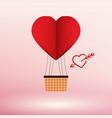 paper art heart air balloon concept vector image vector image