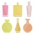perfume bottles design vector image vector image