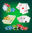 poker design elements money stacks chips vector image