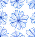 Seamless pattern with watercolor painted flowers vector image
