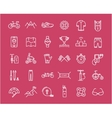 Set Flat Line Icons Cycling