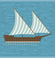 ship boat sea frigate symbol vessel travel vector image