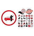 Smoking Taxi Driver Flat Icon with Bonus vector image vector image