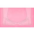 sneakers pink vector image vector image